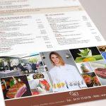 création menu design restaurant