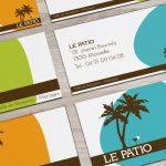 Création identité visuelle, logo et carte de visite pour Le Patio