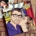 Création personnalisée pop art Lichtenstein