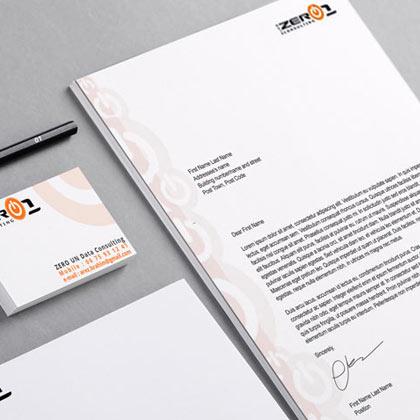 Conception logo et print d'une entreprise informatique