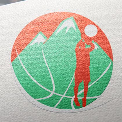 Création de logo pour une entreprise – stage de basket ball