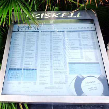 Création menu de restaurant à Marseille