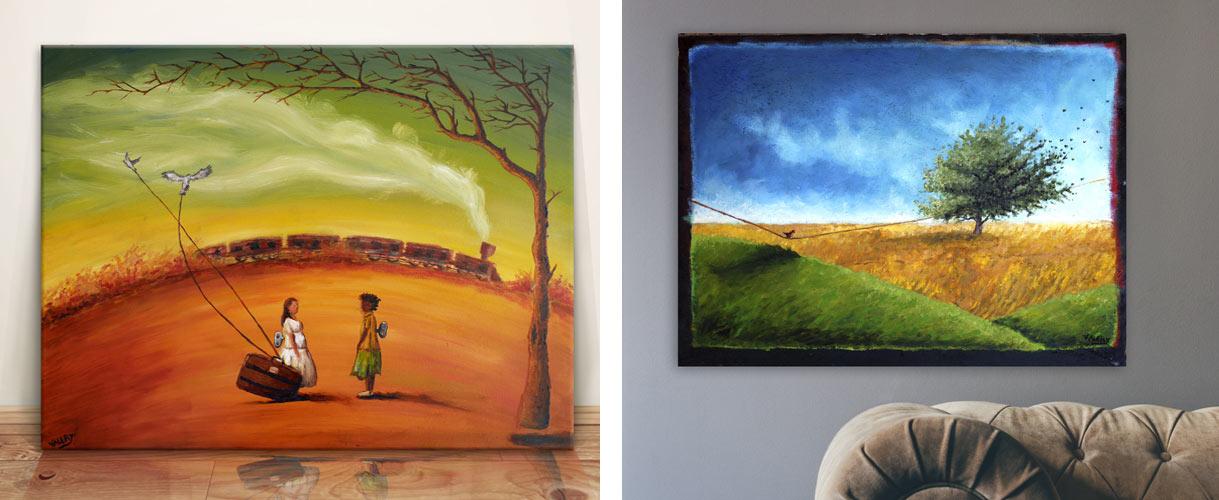 vente de tableau peinture à l'huile