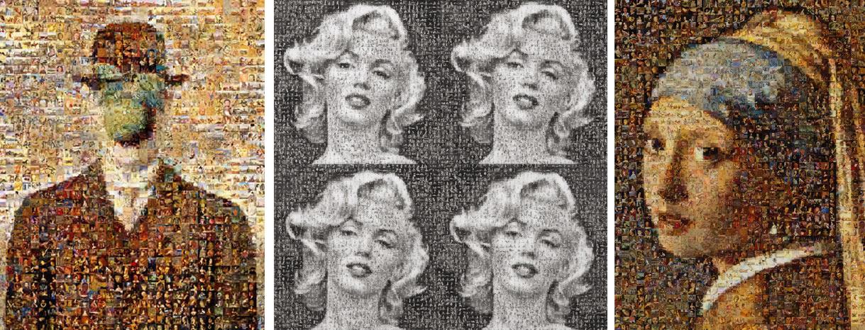 Mosaïque de photos Robert Silvers Marilyn Monroe