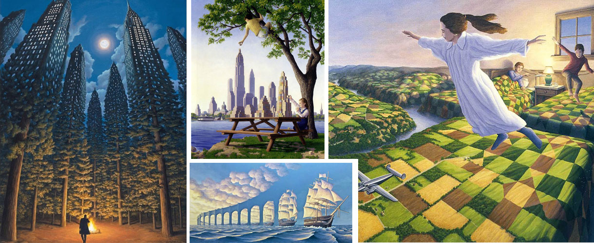 tableau surrealistes Rob Gonsalves