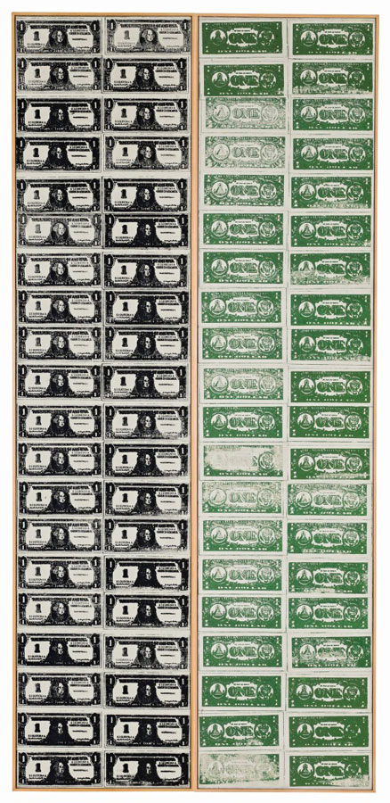 "Andy Warhol ""Front and Back Dollar Bills"""