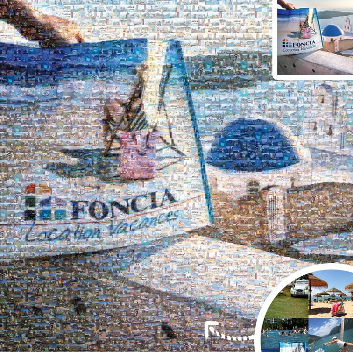 photo mosaïque foncia, une mosaI¨que de photos personnalisée