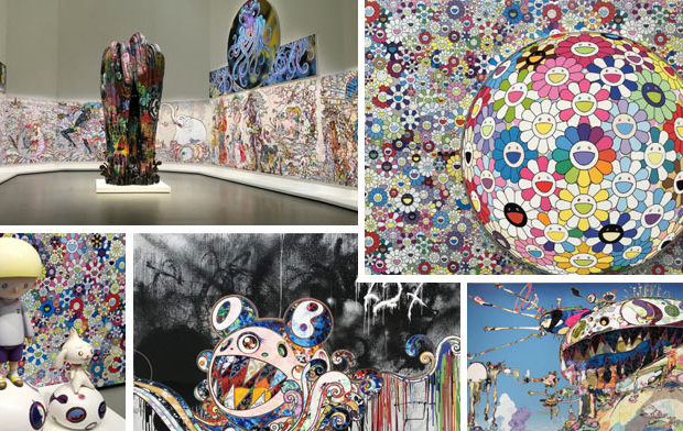 Takashi Murakami expose à la fondation Louis Vuitton