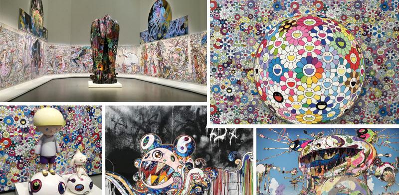 Takashi Murakami expose à la fondation Louis Vuitton
