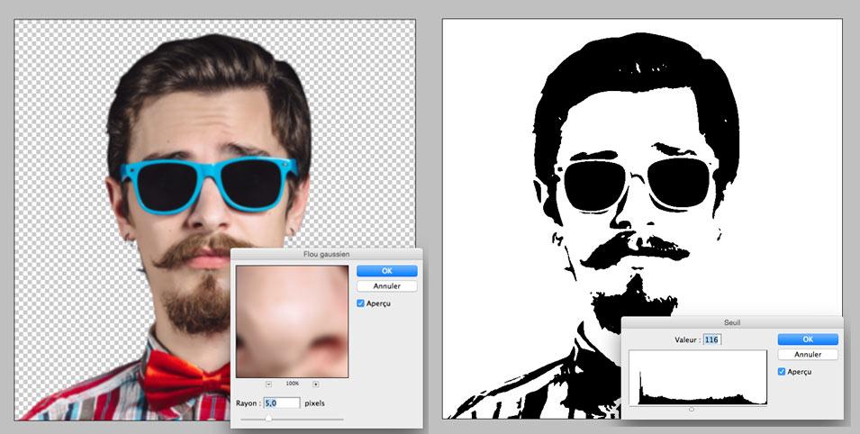 Appliquez les filtres photoshop