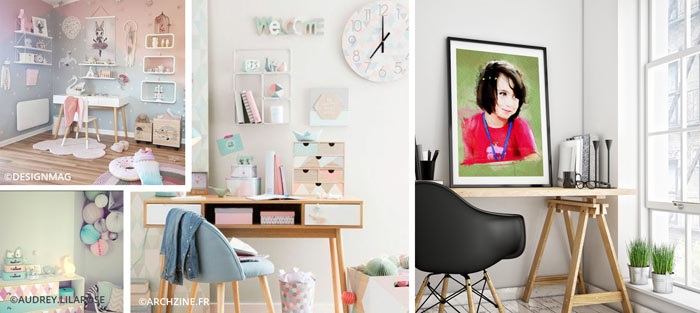 Décoration personnalisée de chambre d'enfant couleur pastel