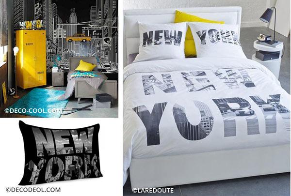 décoration personnalisée style New York pour la chambre de votre ado