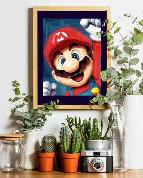 Tableau Mario Bros - idée cadeau pour papa geek