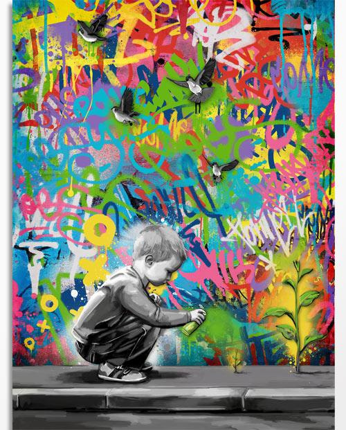 Tableau graffiti - idée cadeau fête des pères